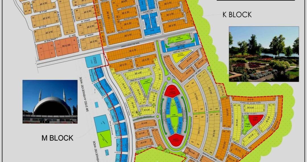 Master plan of new blocks of the society