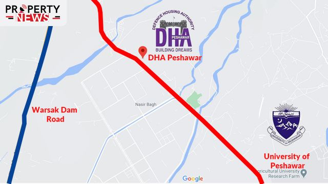 DHA Peshawar Location Map