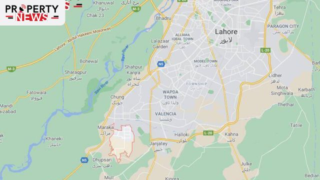 Bahria Town Lahore Location Nearby Areas