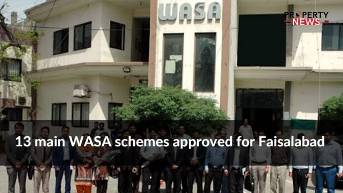 13 main WASA schemes approved for Faisalabad