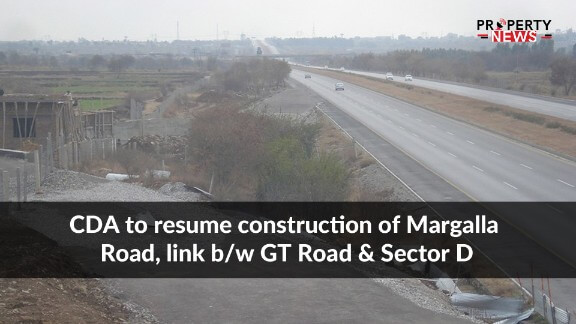 CDA to resume construction of Margalla Road, link bw GT Road and Sector D
