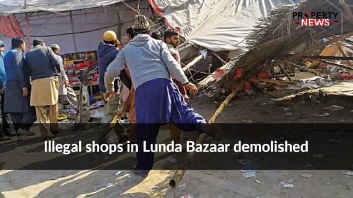 Illegal shops in Lunda Bazaar demolished