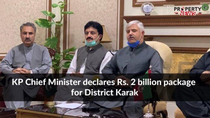 KP Chief Minister declares Rs. 2 billion package for District Karak
