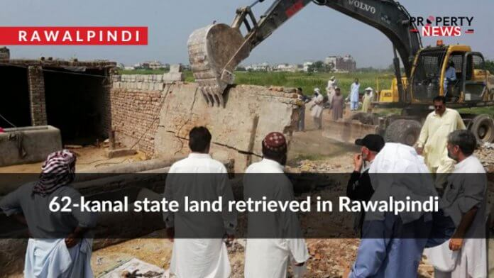 62-kanal state land retrieved in Rawalpindi