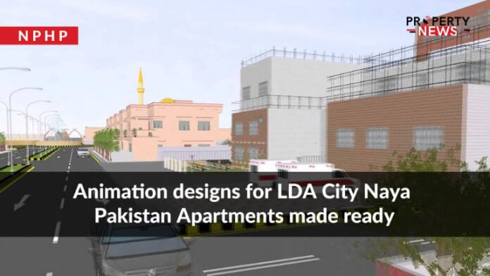 Animation designs for LDA City Naya Pakistan Apartments made ready