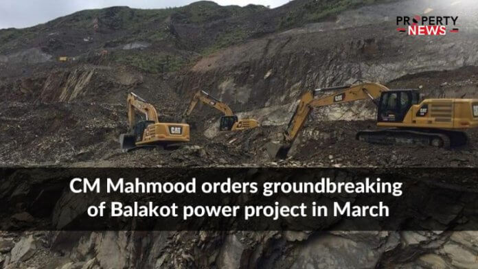 CM Mahmood orders groundbreaking of Balakot power project in March