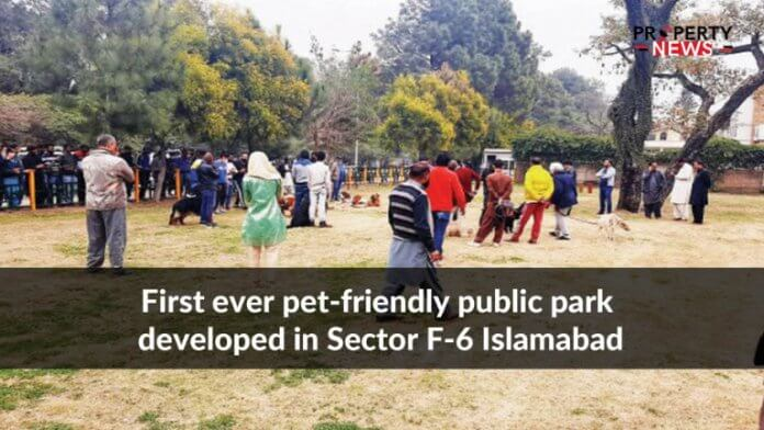 First ever pet-friendly public park developed in Sector F-6 Islamabad