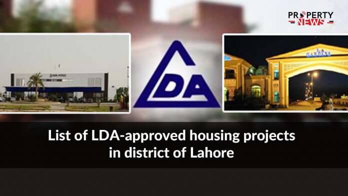 List of LDA-approved housing projects in district of Lahore
