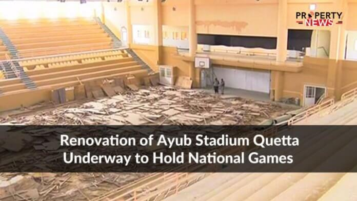 Renovation of Ayub Stadium Quetta Underway to Hold National Games