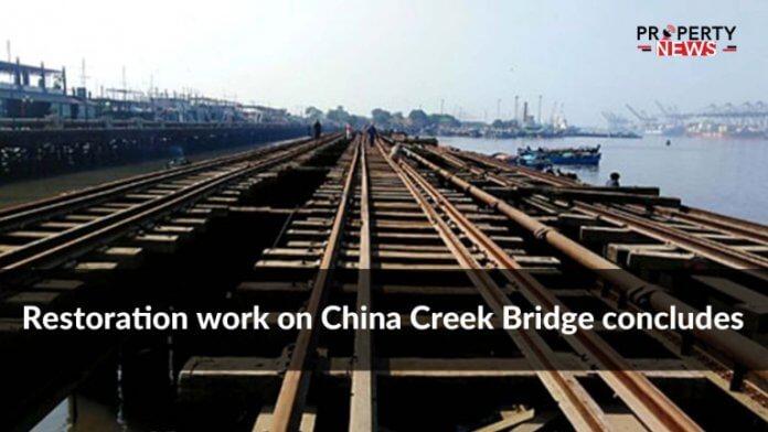 Restoration work on China Creek Bridge concludes