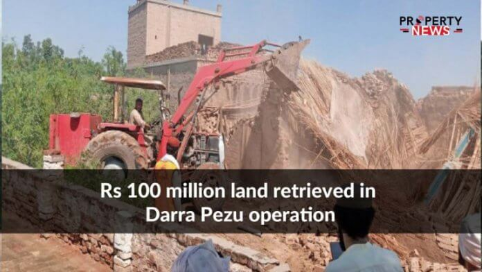 Rs 100 million land retrieved in Darra Pezu operation