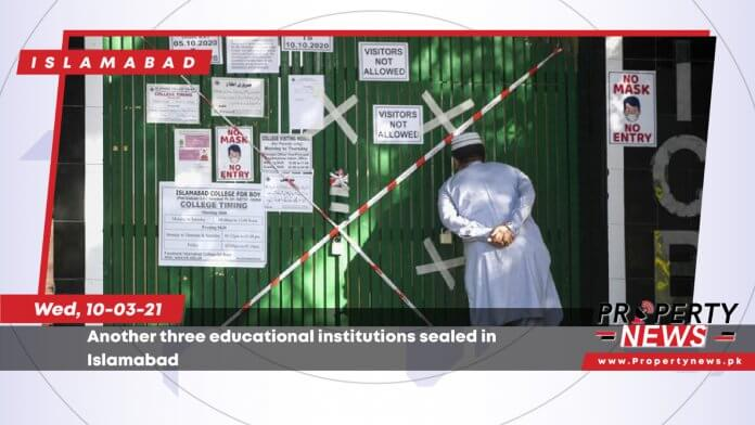 Another three educational institutions sealed in Islamabad-01