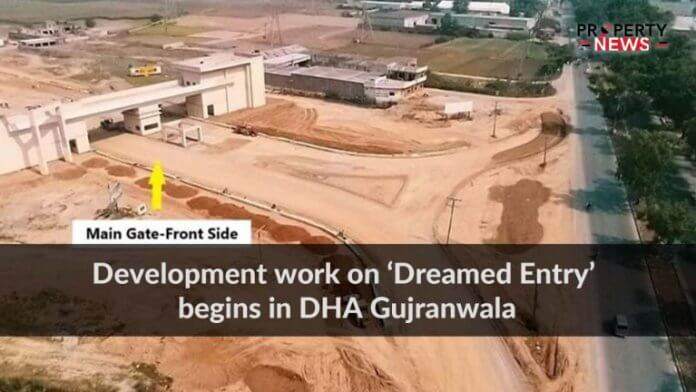 Development work on 'Dreamed Entry' begins in DHA Gujranwala