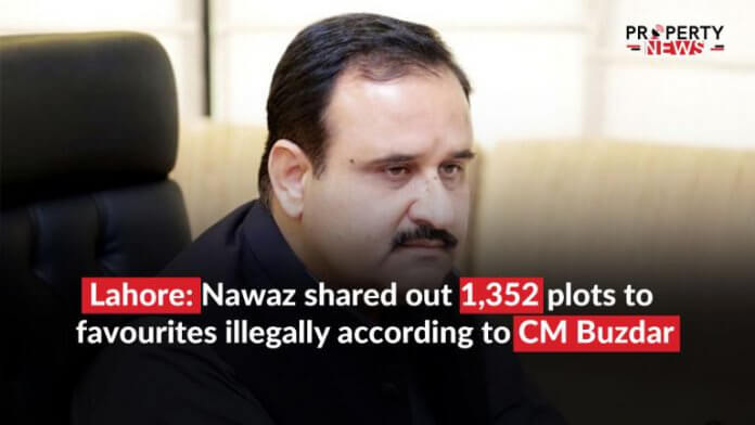 Lahore; Nawaz shared out 1,352 plots to favourites illegally according to CM Buzdar