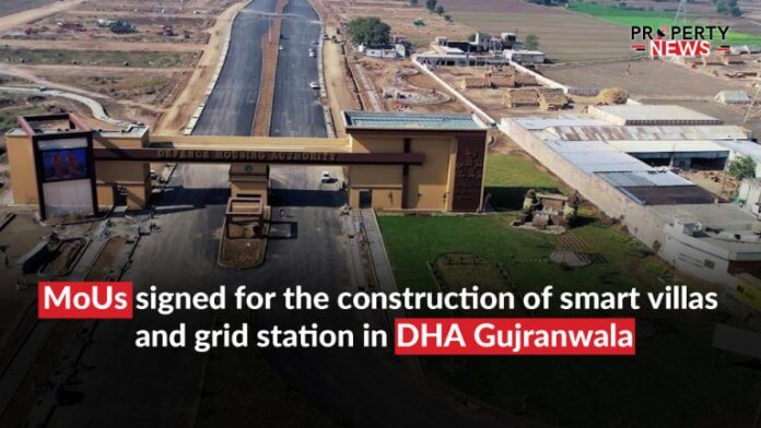 MoUs signed for the construction of smart villas and grid station in DHA Gujranwala