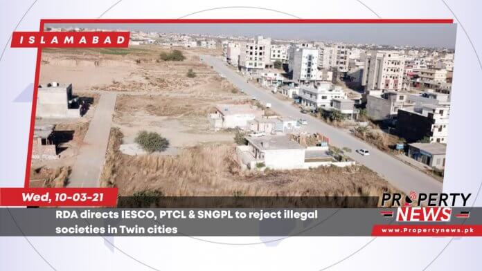 RDA directs IESCO, PTCL & SNGPL to reject illegal societies in Twin cities-01