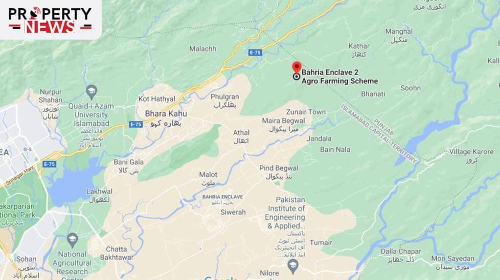 Bahria Agro Farm Houses Islamabad Location