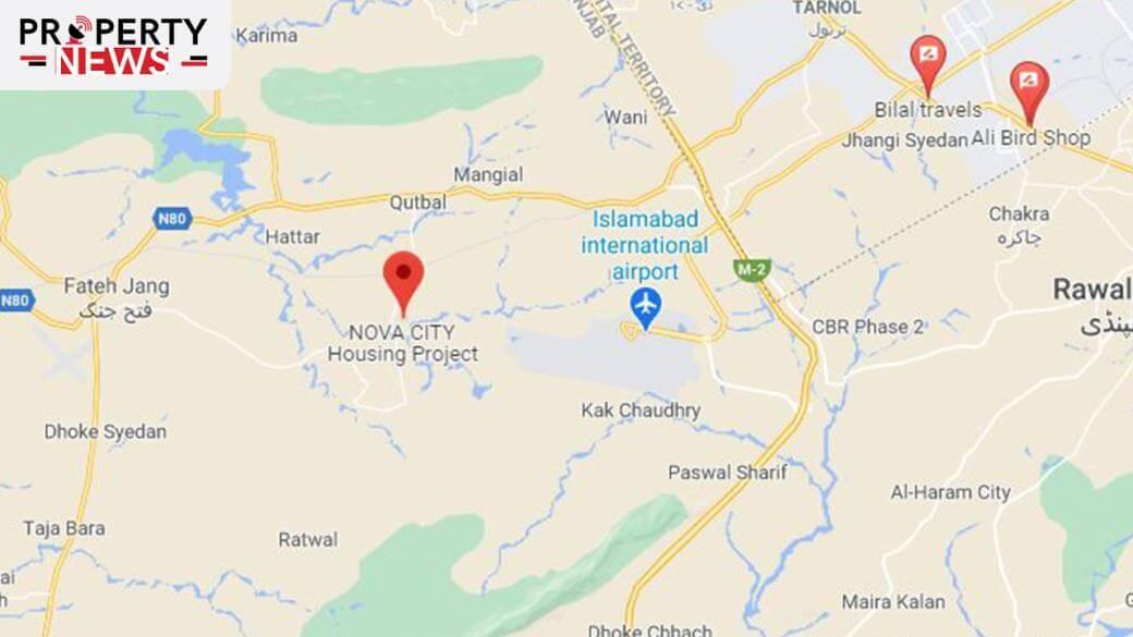 Nova City Islamabad Location