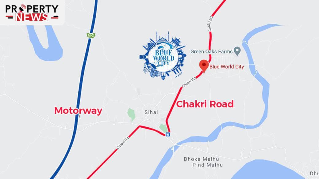 Blue World City Islamabad Location