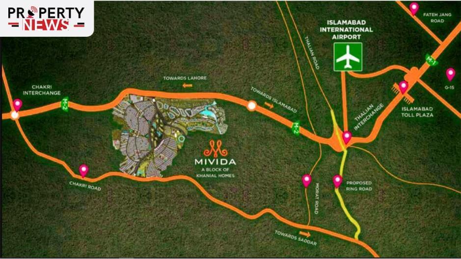 Mivida City Islamabad Accessibility Points