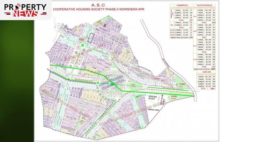 ASC Cooperative Housing Society Nowshera Phase 2 Nowshera Master Plan